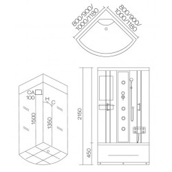 Душевая кабина Aqua Joy Domino AJ-3028 (800x800)