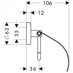 Полотенцесушитель электрический Margaroli Armonia 9-542-4 бронза
