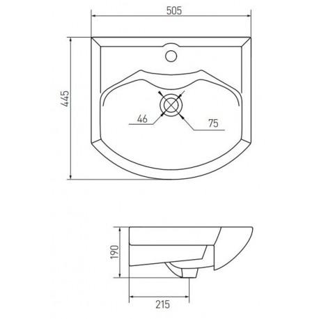 Мебельная раковина Акватон Смайл 50