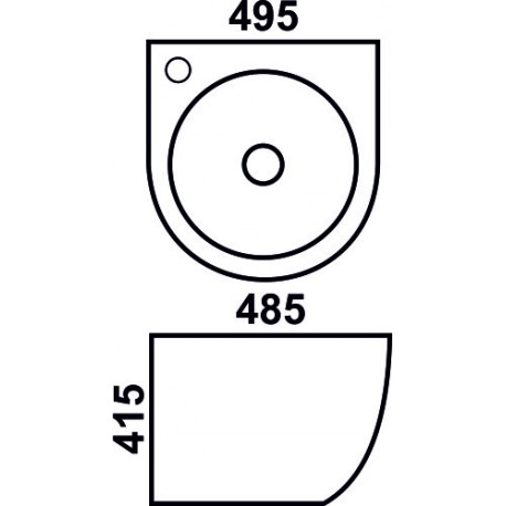 800-500FGW Раковина для ванной подвесная зеленая MELANA
