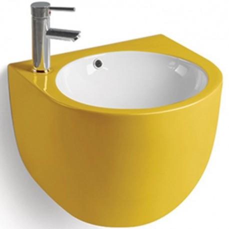800-500FYW Раковина для ванной подвесная желтая MELANA