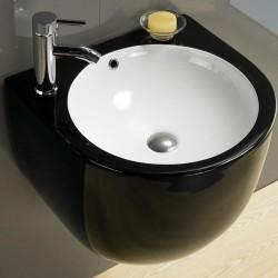800-500FGW Раковина для ванной подвесная черная MELANA