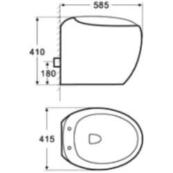 800-821ВВ подвесной унитаз черный  MELANA