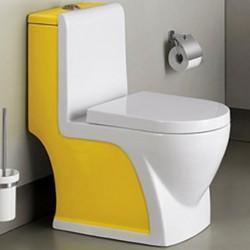 800-2008YW Унитаз моноблок желто-белый MELANA