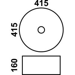 800-7078АGP-2 Фигурный умывальник золото MELANA