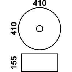 800-7078АВW Фигурный умывальник черно-белый MELANA